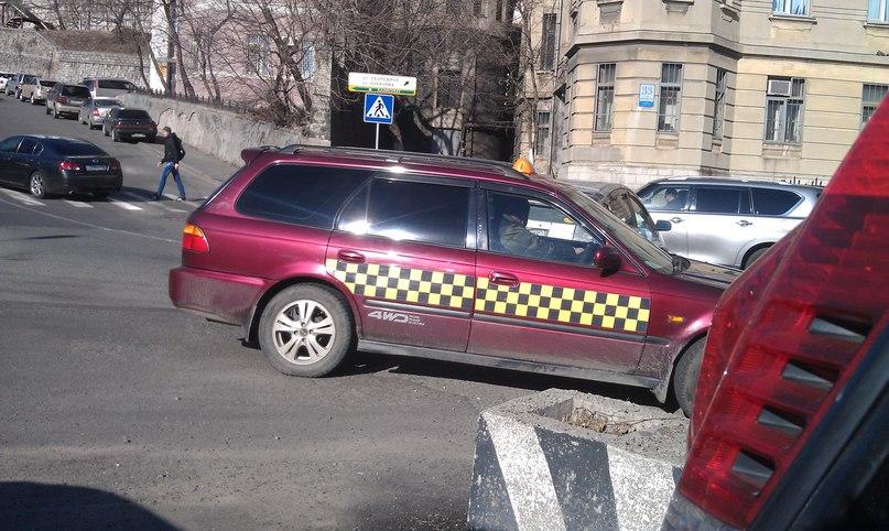 """То самое """"такси"""" без ремней безопасности, Фото с места события собственное"""